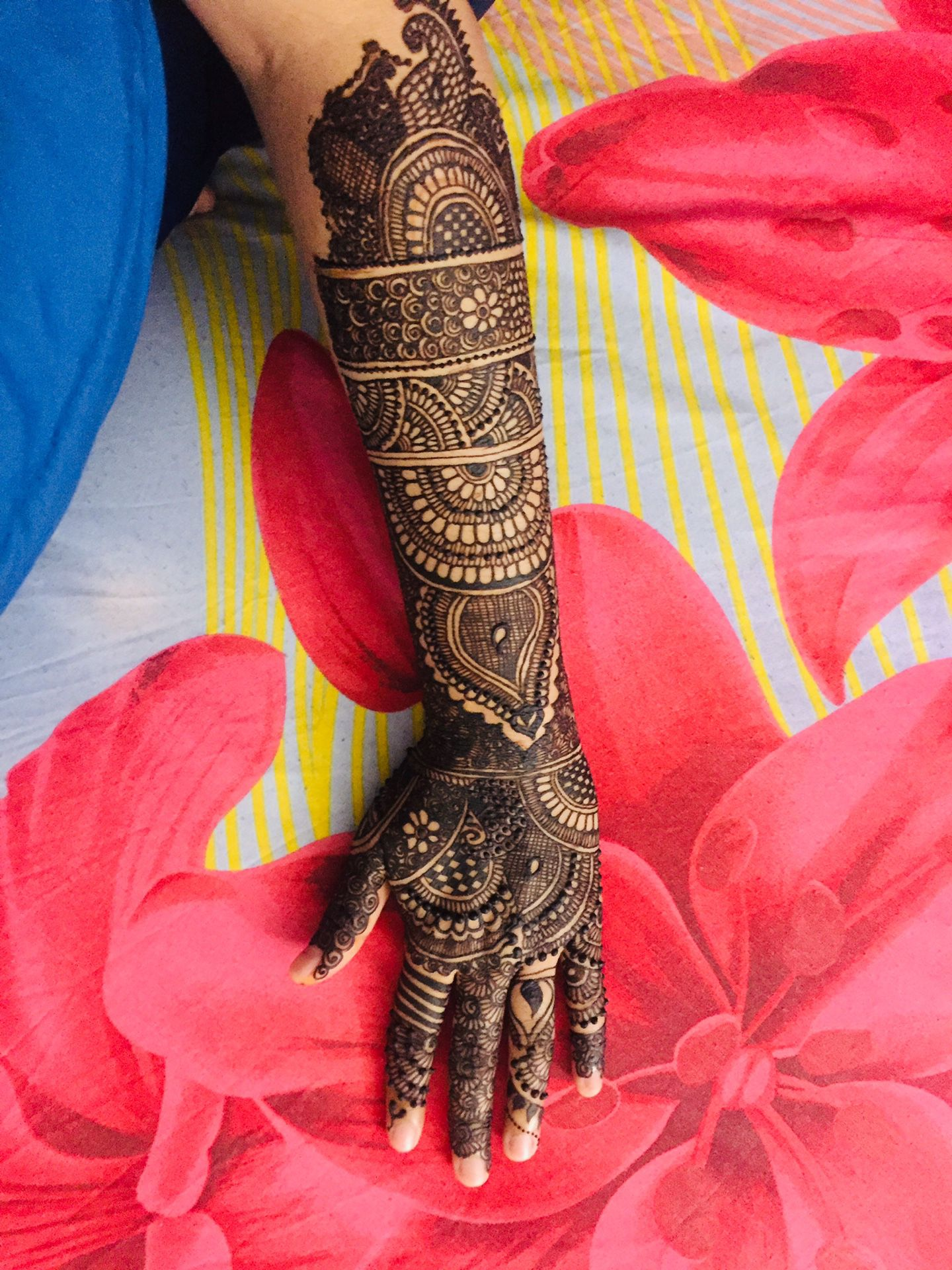 Desi bridal henna