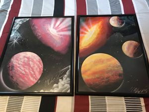 Galaxy Posters with frame for sale  Broken Arrow, OK