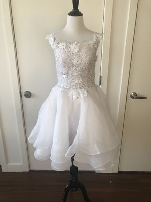Wedding Dress White Party Dress Size M for Sale in Boston, MA