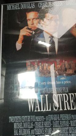 Framed Wall Street movie poster Thumbnail