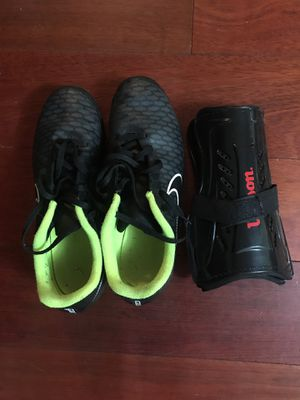 Soccer shoes and shin guards for Sale in Fairfax, VA
