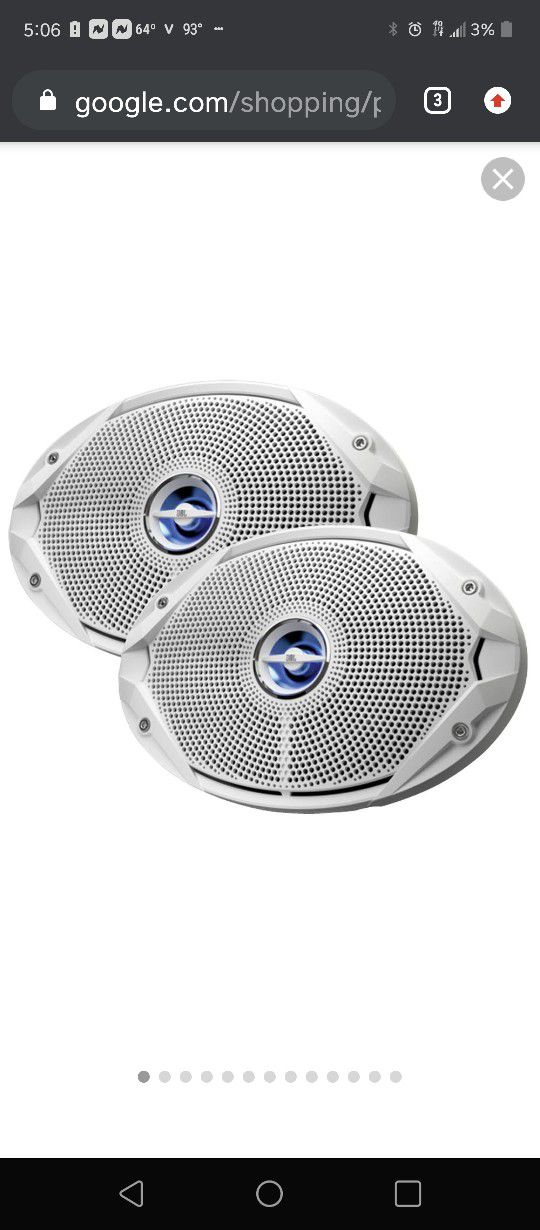 Photo Jbl Marine 300 Watt Speakers