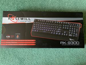 Rosewill Blue Backlit Mechanical Gaming Keyboard with Cherry MX Brown Switches for Sale in Victorville, CA