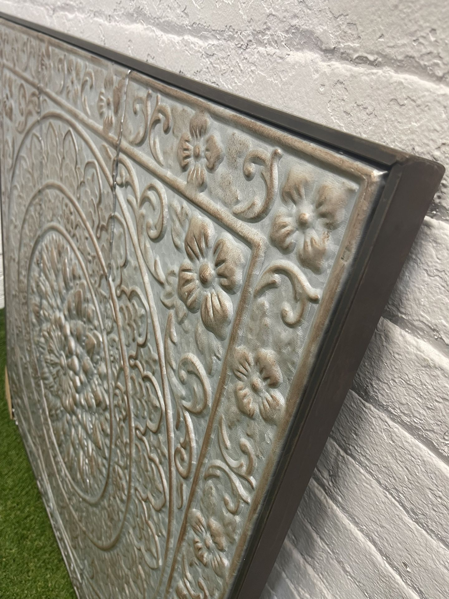 """The Curated Nomad Kaltenborn Metal Wall Panel - 36""""W, 36""""H"""