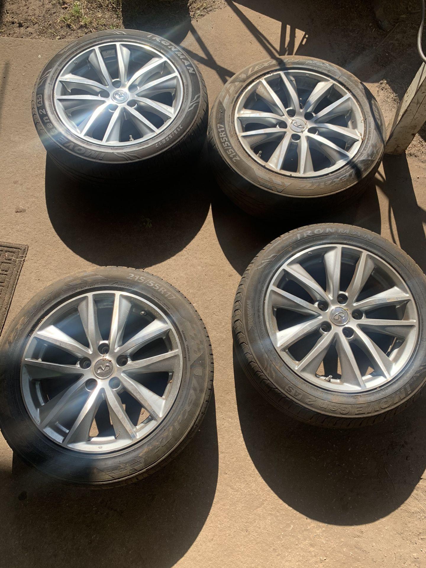 Infiniti Rims 17inch/ Brand New Tires