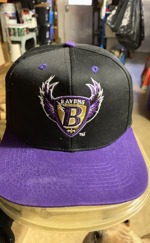 Original Baltimore Ravens Logo hat Mint Condition (keep in plastic protector) for Sale in Westminster, MD