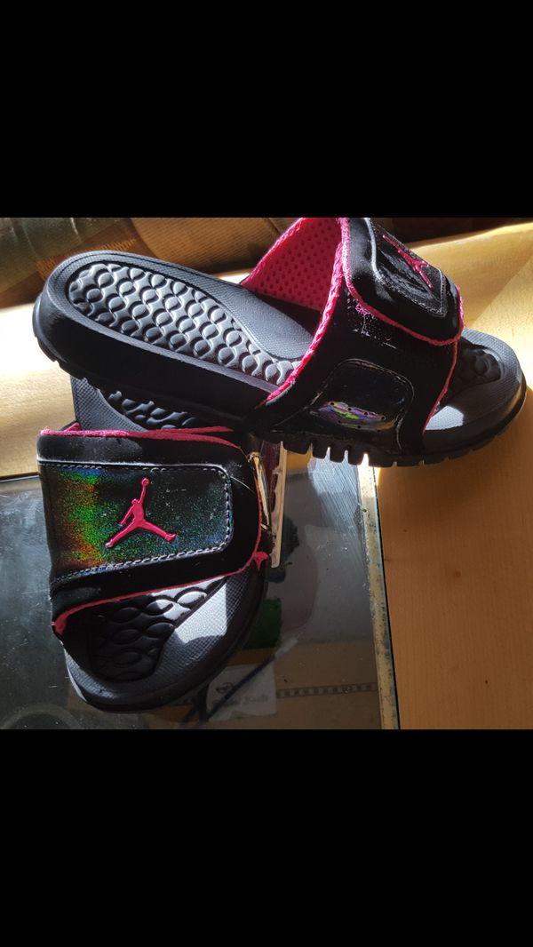 5d9b8cc8a66c Black   Pink Jordan Slides 13c for Sale in Colorado Springs