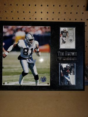 Oakland Raiders plaque Tim Brown for Sale in Moreno Valley, CA