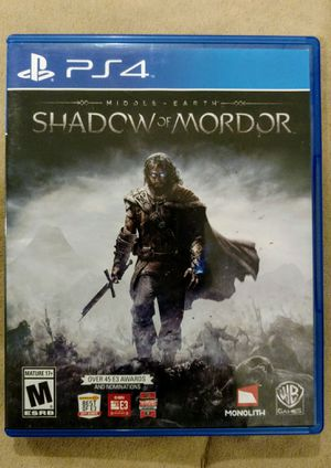 Middle-earth Shadow of Mordor Ps4 for Sale in Boston, MA