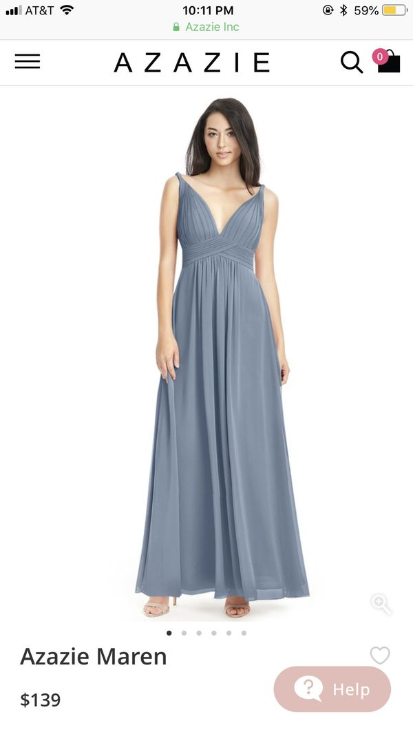 5064cff801a Azazie Dusty Blue Bridesmaid Dress for Sale in Plymouth