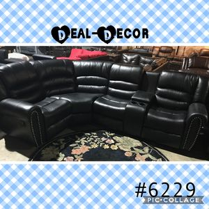 Reclining Leather Sectional for Sale in Atlanta, GA