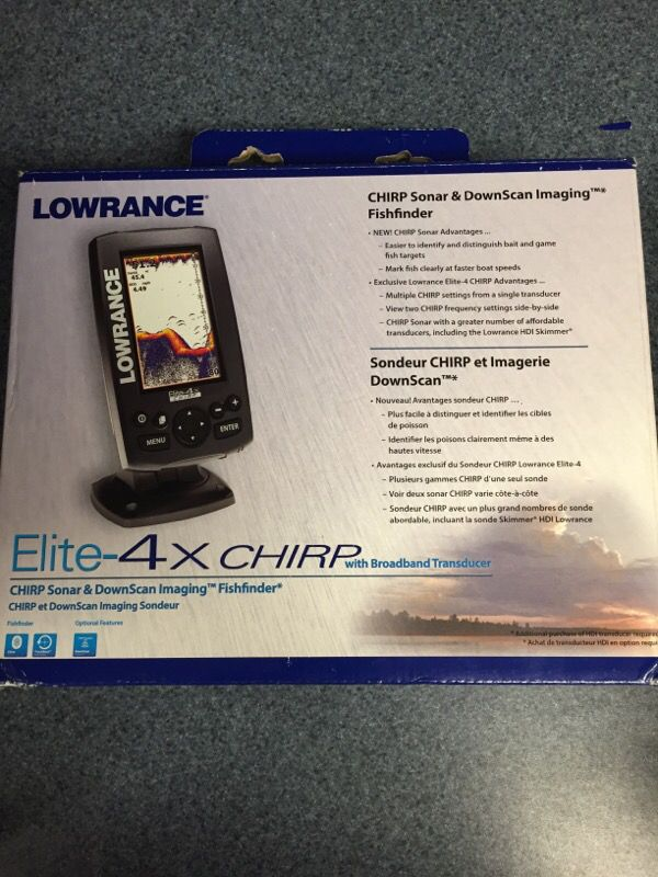 Lowrance elite 4x chirp depth finder for Sale in York, PA - OfferUp