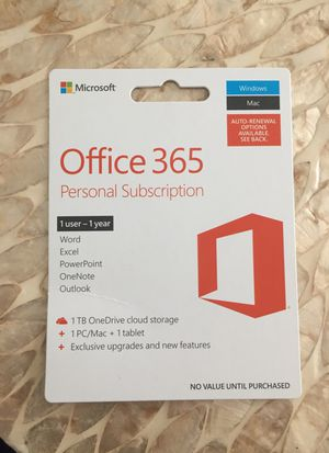 Office 65 Personal Subscription for Sale in Atlanta, GA