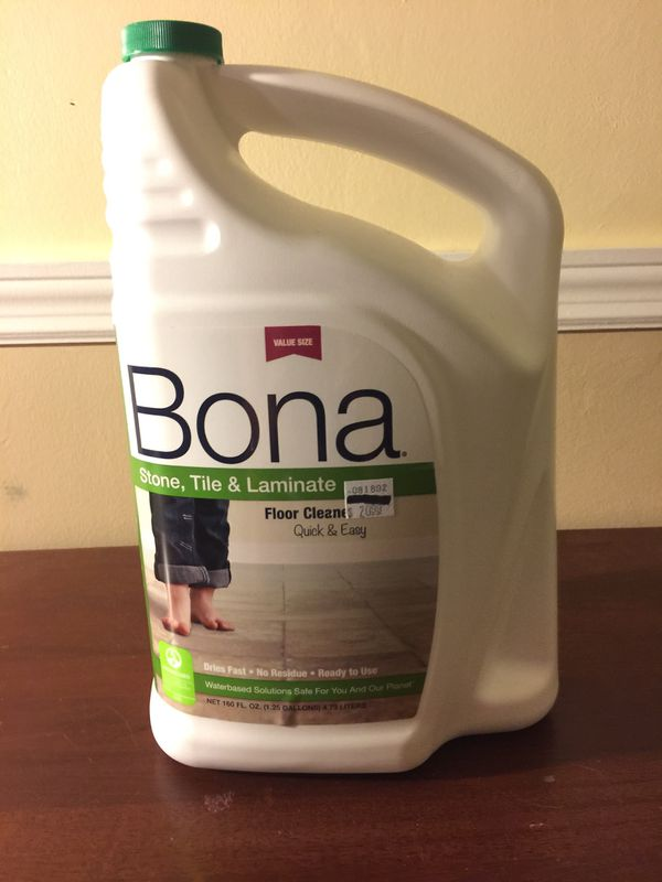 Bona 160 Oz 1 25 Gallons Stone Tile And Laminate Floor Cleaner Refill New Sealed For In Delray Beach Fl Offerup