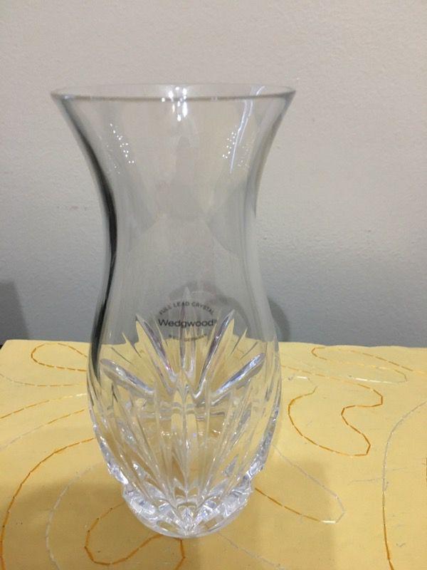 Wedgwood For Spiegel 6 Vase Full Lead Crystal For Sale In Des