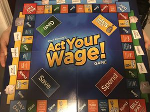 """Act Your Wage"" Dave Ramsey's Board Game - Finance for Kids for Sale in Woodway, TX"