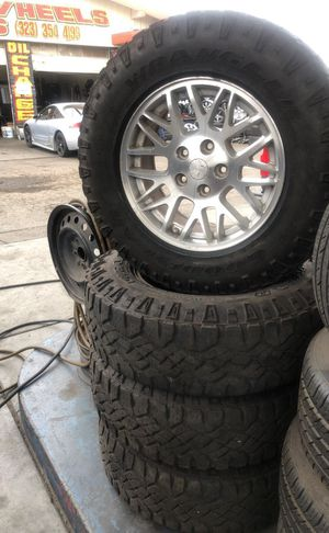 Jeep Cherokee rims and tires $600 for Sale in East Los Angeles, CA