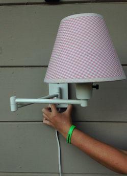 TWO Pottery Barn Kids swing arm lamps. Thumbnail