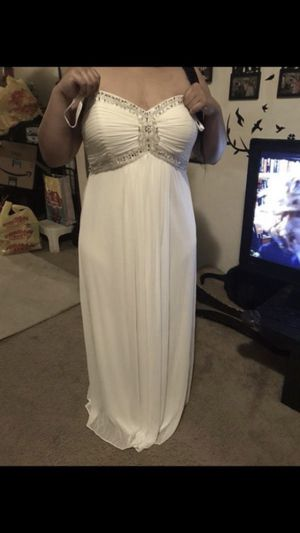 Dave and bridals white wedding dress size 18 can be used for maternity dress also very beautiful for Sale in Washington, DC