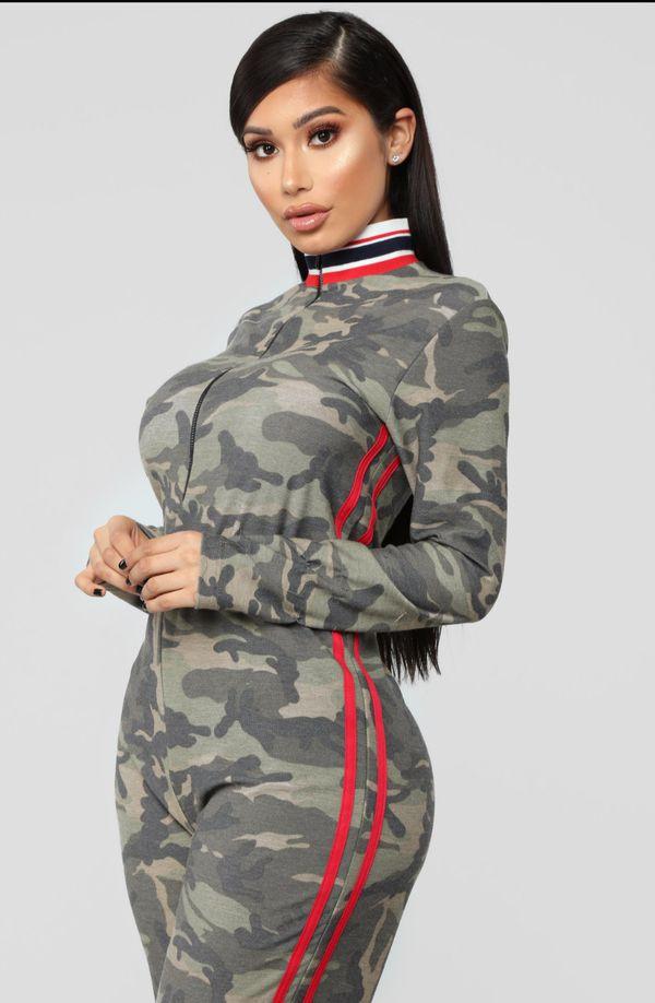 9a099993836 Fashion Nova Camo Hiding In Plain Sight Jumpsuit for Sale in Kapolei ...