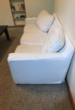 White couch for sale Thumbnail