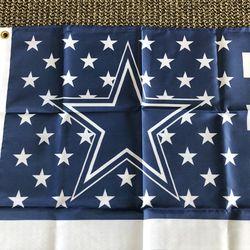 NFL Dallas Cowboys USA New Flag 3' x 5' Metal Grommets Thumbnail