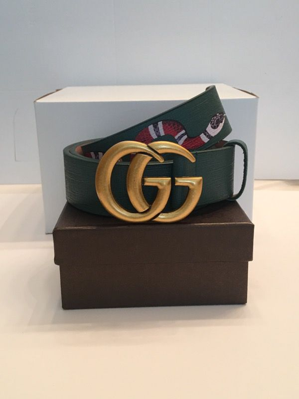be9cf43b18f Green Gucci Leather Snake Belt for Sale in Morrow