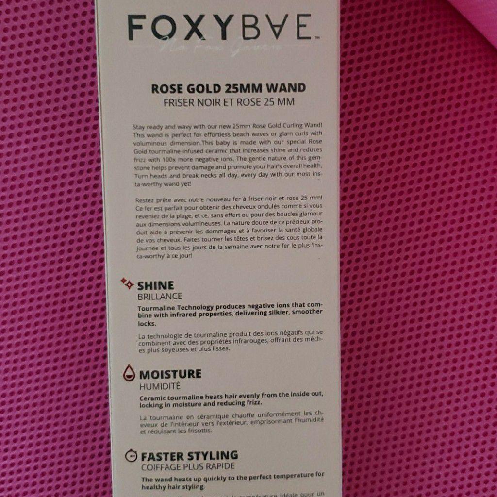 Foxybae Curling Wand