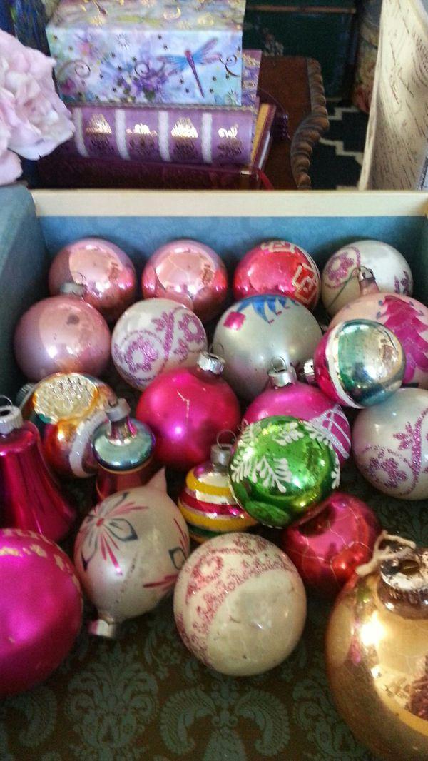 Book Box Full Vintage Christmas Ornaments!
