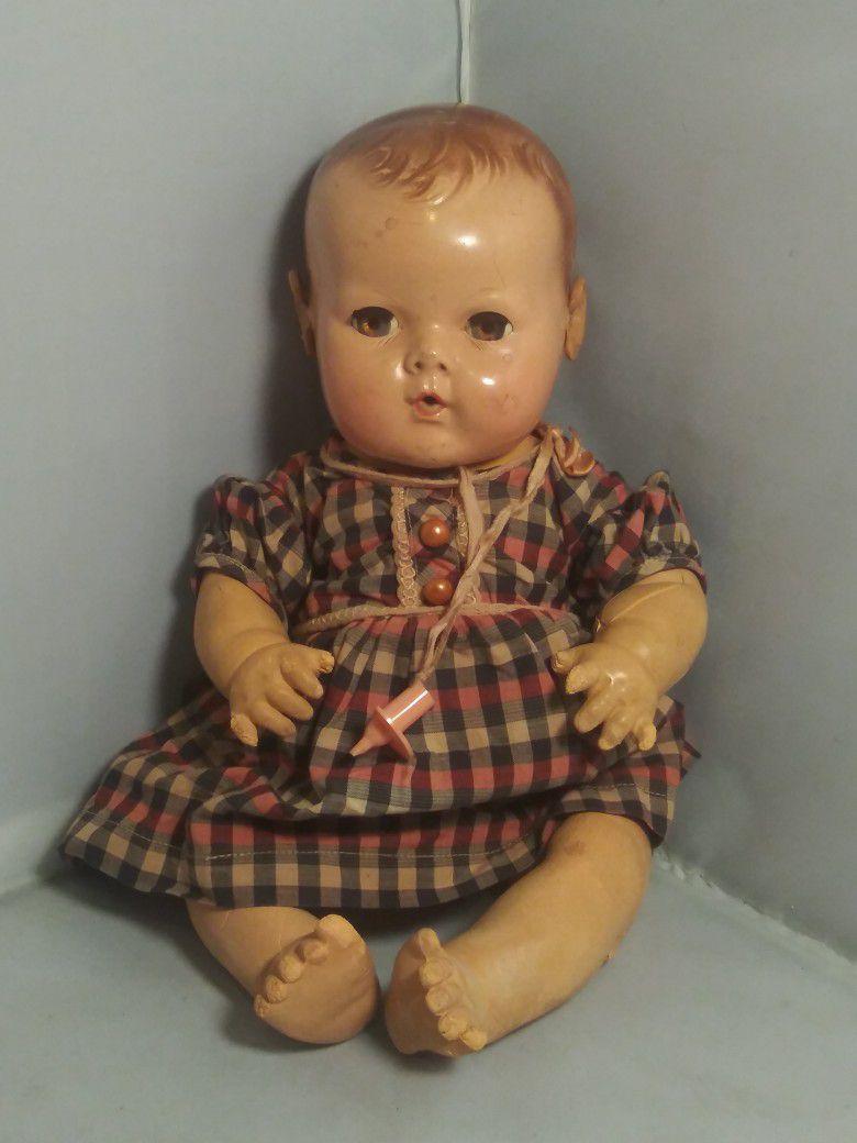 "Vintage Effanbee Dydee 14"" Baby Doll"
