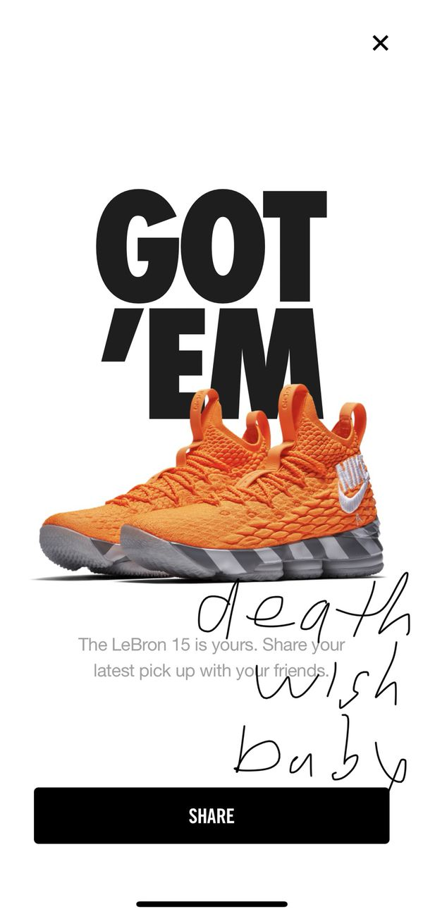 buy online 32cd8 0f094 Nike LeBron Watch Lebron 15 Orange Box Men's Size 8 Brand New Limited for  Sale in Brooklyn, NY - OfferUp