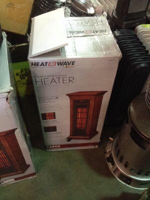 Heat wave infrared quartz tower heater for Sale in Phoenix, AZ