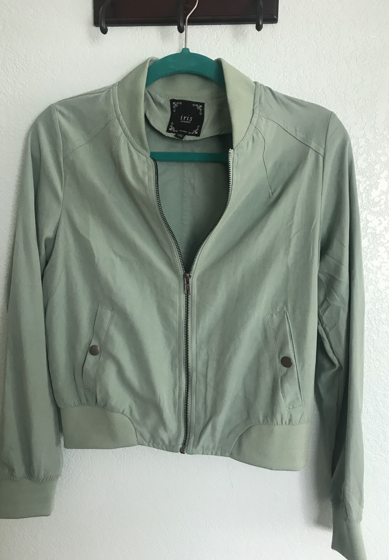 Teal Bomber Jacket SiZe Small