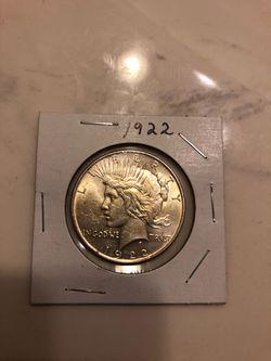 1922 Silver Dollar Thumbnail