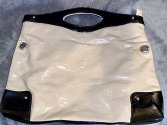 Nine West Black and Cream Tote Bag Thumbnail