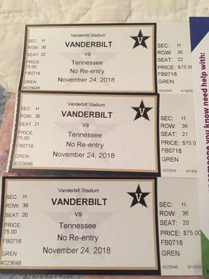 3 Vanderbilt vs UT tickets for Sale in Nashville, TN