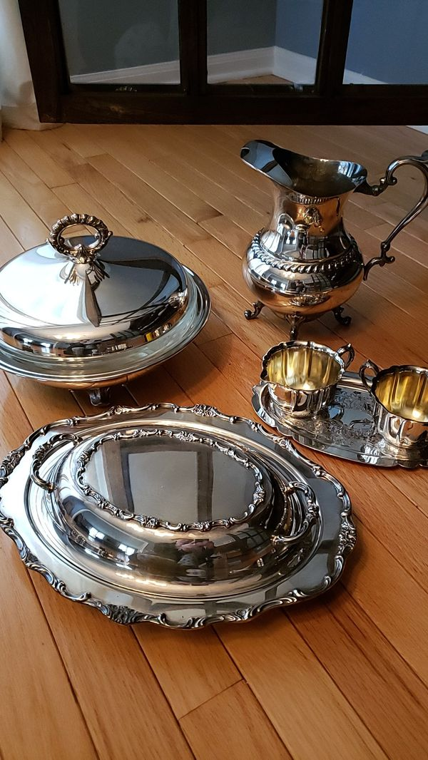 6 Pcs Antique Silver Serving Pieces For Sale In Third Lake Il Offerup