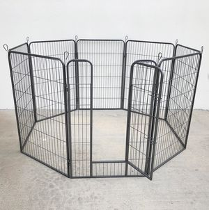 """Photo New $120 Heavy Duty 48"""" Tall x 32"""" Wide x 8-Panel Pet Playpen Dog Crate Kennel Exercise Cage Fence"""
