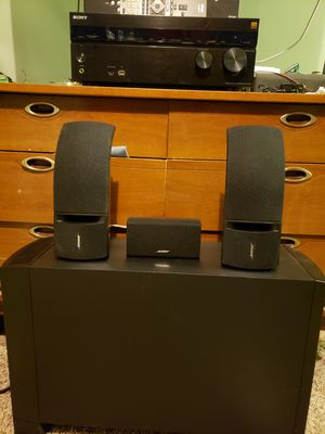 Sony strdn 860 bluetooth receiver with Bose subwoofer and speakers for Sale in Takoma Park, MD