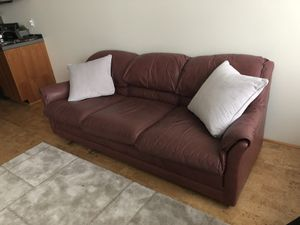 Leather Couch for Sale in Portland, OR