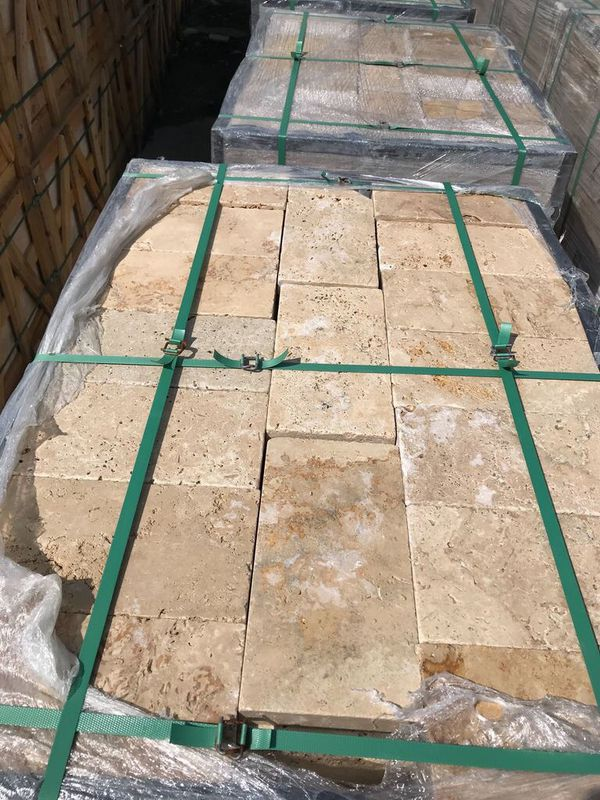 6x12 Ivory Swirl Travertine Pavers For Sale In Hallandale