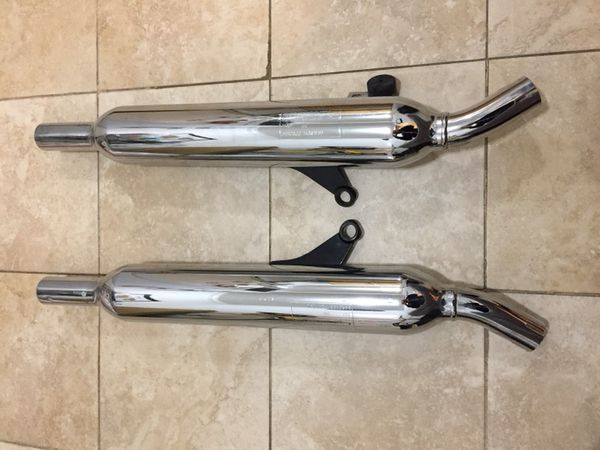 TRIUMPH BONNEVILLE EXHAUST PIPES - $100 - LIKE BRAND NEW!!! for Sale in  Brooklyn, NY - OfferUp