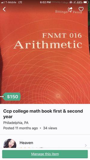 Community college math book for Sale in Philadelphia, PA