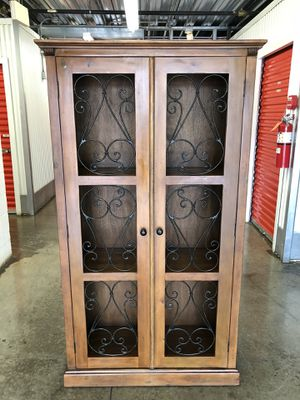 Beautiful Pier 1 Tall cabinet $375 for Sale in Gaithersburg, MD