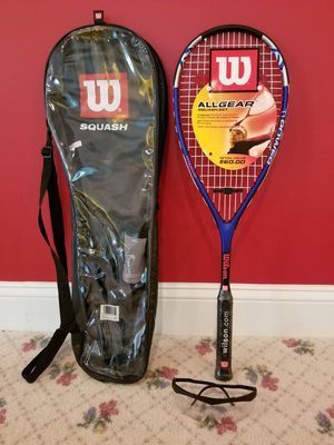 Brand new squash racquet with protective eyewear and 2 balls for Sale in North Potomac, MD