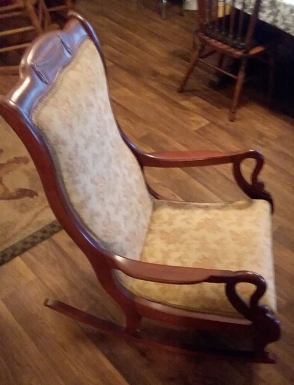 Excellent Antique Mahagony Gooseneck Rocking Chair For Sale In Ibusinesslaw Wood Chair Design Ideas Ibusinesslaworg