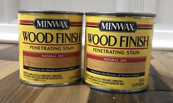 Minwax Natural Interior Stain 2 8 Oz Cans A Quart Can For Sale In Vancouver WA