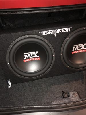 Photo MTX audio speakers and Rockford fosgate amp, selling together or separate