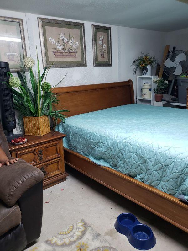 Queen Base De Madera Buro Y Mueble Grande Usados Furniture In