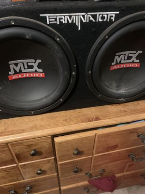 "Photo Mtx 12"" sub woofers"